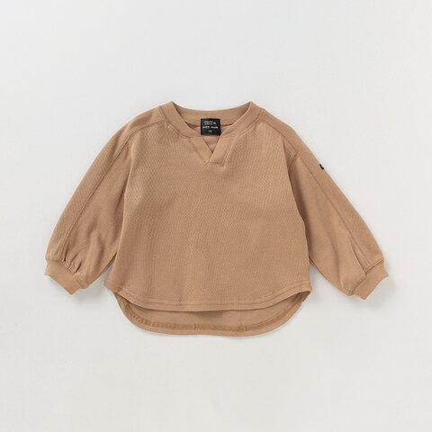 プティマイン(petit main)オーガニックコットン VネックサマールTシャツ