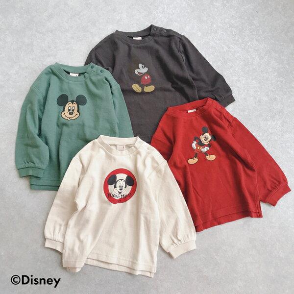 ミッキーマウスデザイン スリット入りTシャツ
