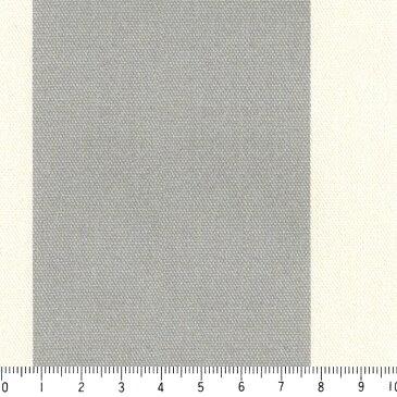 ストライプ 7センチ st7070-36 ライトグレー 太い ストライプ ボーダー柄 10cm単位 切り売り 生成りオックス生地 綿100% 110cm 布 北欧風 インテリア 生地 テーブルクロス カーテン バッグ用生地