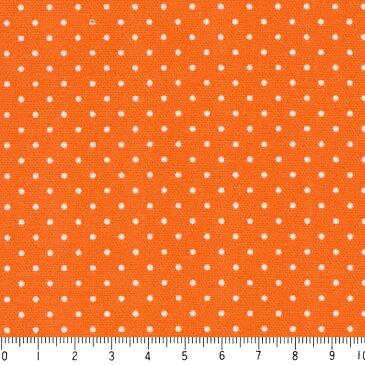 水玉ドット柄 生地 1.5mm 6062-54 ORANGE オレンジ dot 水玉 ドット 生地 1.5ミリ ピンドット 布 カルトナージュや手芸に人気 いろんなサイズで100種類以上 生成り オックス 生地 綿100% 110cm幅 カルトナージュ生地 nassen
