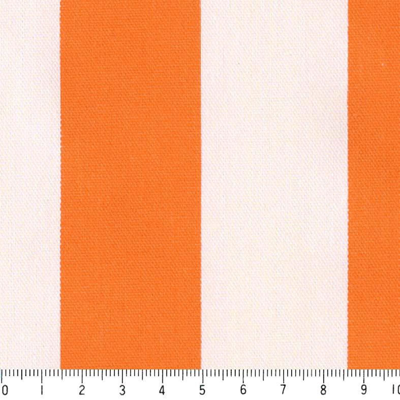 ストライプ 36ミリ st3636-54 オレンジ 太め ストライプ ボーダー柄 北欧風 おしゃれ 橙 かわいい 10cm単位 やや厚手 生成りオックス生地 綿100% 110cm 布 カルトナージュ トートバッグ カーテン 手芸 手作り小物 用途 商用利用可 生地