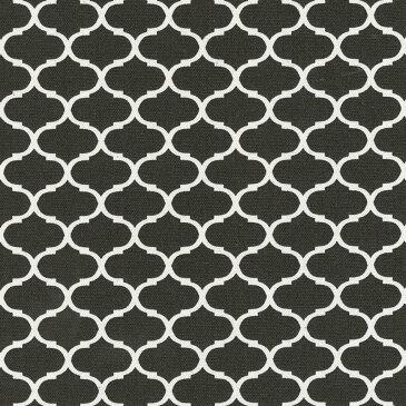 モロッカン 2.8cmネガ 7545-90 チャコール モロッコ 生地 販売 グレー 10cm単位 やや厚手 生成りオックス生地 綿100% 110cm 布 カルトナージュ ダマスク柄 モロッカン柄 生地 布 カフェミナージュ クッション 商用利用可 生地
