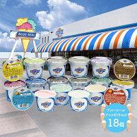 沖縄 「 ブルーシール 」 アイスギフトセット 16種類 18個 SK1227 ブルーシールアイス アイスクリーム アイス セット 詰め合わせ 食品 フルーツ ソルベ プレゼント 贈り物 食べ物 お祝い 内祝い お返し お取り寄せグルメ スイーツ ギフト 送料無料 お中元 2021 個包装