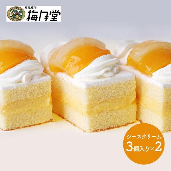 長崎明治27年創業梅月堂シースクリーム3個入り×2SK1517ケーキお取り寄せ特産手土産プレゼントお祝い詰め合せおすすめ贈答品内