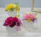 プリザーブドフラワーローズハート誕生祝い、母の日、父の日、敬老の日、結婚祝い