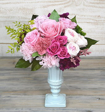 プリザーブドフラワーバラとカーネーションの花束誕生祝い、母の日、父の日、敬老の日、結婚祝い