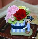 プリザーブドフラワーミッキー・ミニー・ドナルド誕生祝い、母の日、父の日、敬老の日、結婚祝い