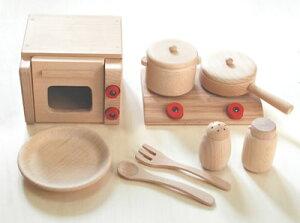 木のおもちゃ ミニ調理セット