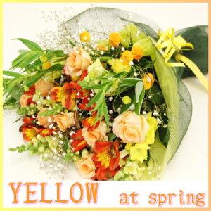 おまかせ季節の花束〜春の一例〜黄色系