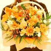 ビタミンオレンジのお花で元気いっぱいなアレンジメント♪