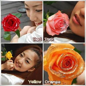 高価な光輝くラメ入り薔薇の花束