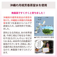 沖縄の月桃芳香蒸留水を使用