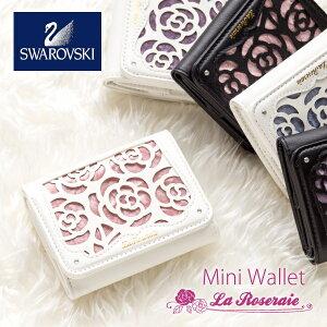 財布レディース三つ折り財布コンパクトミニ財布おしゃれ三つ折り小さい財布かわいい花柄バラ柄ショートウォレットギフトプレゼントプチプラNATURALdesignLaRoseraieMiniWallet
