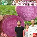 有機さつまいも 紫いも パープルスイートロード5kg 鹿児島県産オーガニック【送料無料】