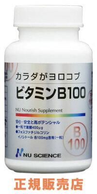 天然系ビタミンB群サプリメント【ビタミンB100】