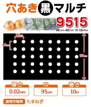 【マルチ】 穴あき黒マルチ9515 玉ねぎ用(孔径が60mm)(10mまで郵便配送商品)※10m未満の場合、送料を再計算します!