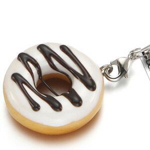 ドーナツ・ホワイトチョコレート 携帯ストラップ