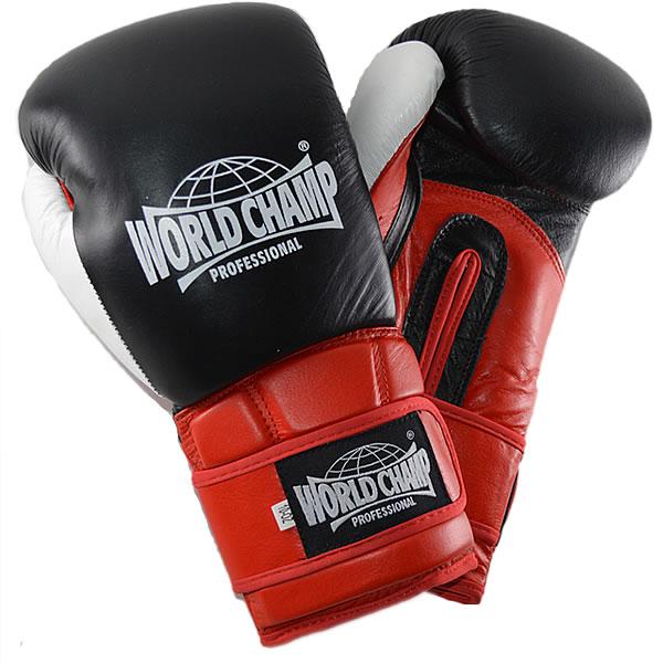 ワールドチャンプ スーパースター 本革ボクシンググローブ (白・赤・黒3種類)