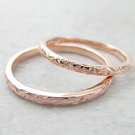 Paripassu結婚指輪マリッジリングペアリング刻印無料偶数号シルバーリーフ模様表面デザインローズゴールド細身華奢レディースメンズ結婚記念日プレゼント指輪プロポーズ