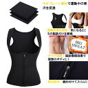 女性用発汗スーツ レディース ダイエットスーツ ダイエットウェア 脂肪燃焼 減量着 サウナウェア サウナスーツ 姿勢矯正 ぽっこりお腹 ネコポス 3