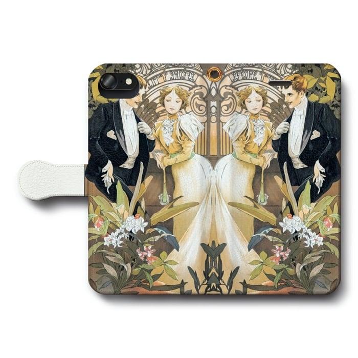 スマホケース 全機種対応 手帳型 アルフォンス ミュシャ 浮気女 iPhone5 ケース iPhone5s スマホカバー 絵画 人気 あいふぉん 耐衝撃 保護ケース
