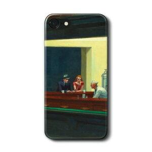 スマホケース エドワード ホッパー ナイトホークス ケース カバー iPhone11Pro Max iPhoneX iPhone8 iPhone7 iPhoneSE Galaxy s10 s9 s8 AquosR3 おしゃれ 名画 絵画