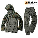 マック(Makku) クロス オーバー レインスーツ LL グリーンカモ AS-8510
