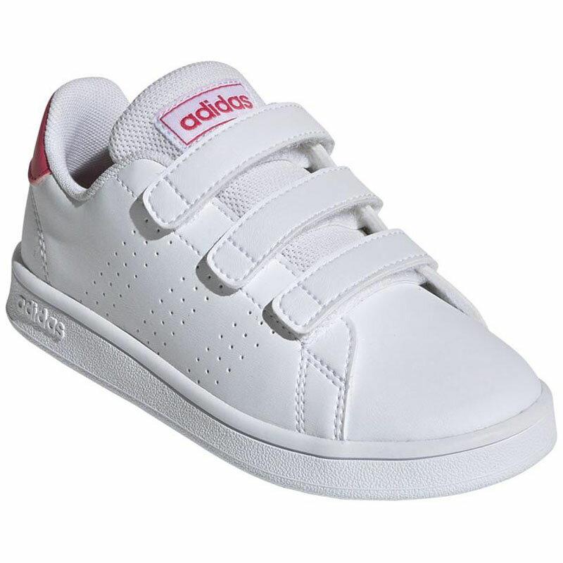 シューズ, キッズ・ジュニア用シューズ adidas() ADVANCOURT C 19.0cm W ADJ-EF0221-190