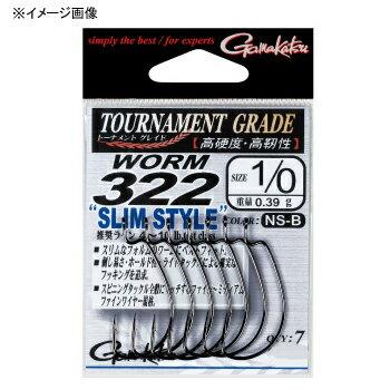 がまかつ(Gamakatsu)バラTGWワーム322スリムスタイル#2/0NSブラック67080
