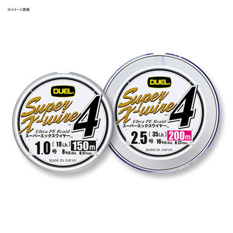 デュエル(DUEL)SuperX-wire4(スーパーエックスワイヤーフォー)150m0.6号/12lb10m×5色H3585