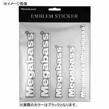 メガバス(Megabass) EMBLEM STICKER ブラック 00000039854