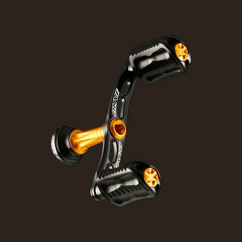 DLIVE(ドライブ)ウェーブエアードライブWアルミWハンドルダイワType1左右共通80mmブラックオレンジDLF-BH5D1-80BKOR