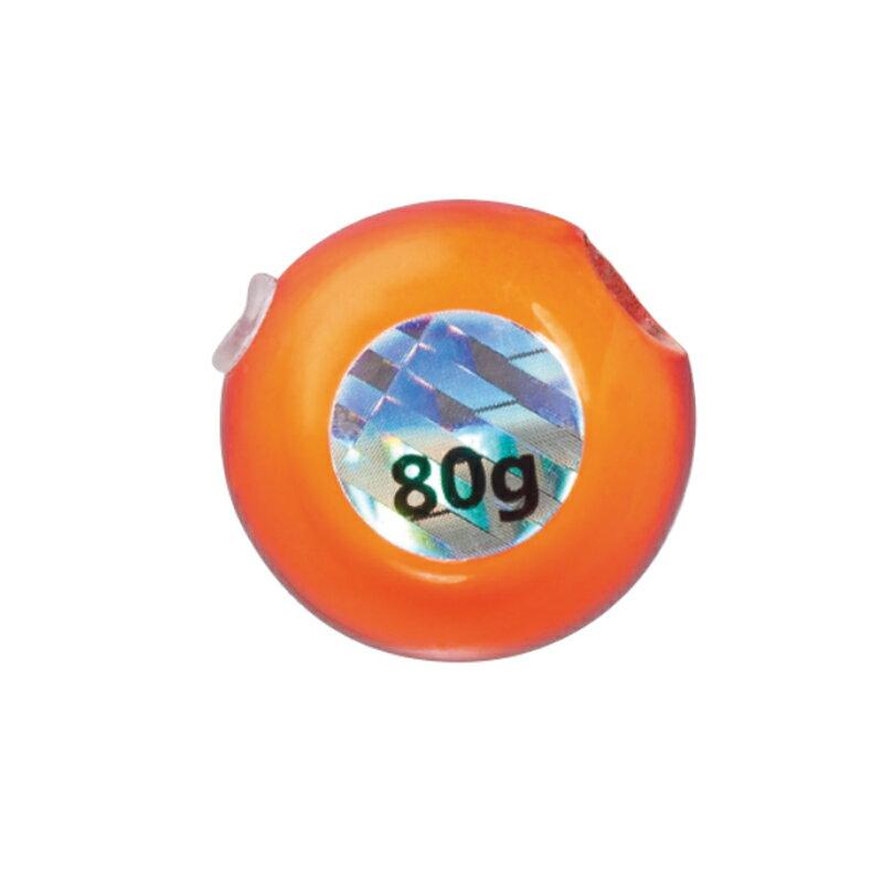 メジャークラフト替乃実TG(タングステン)ヘッド80g#002オレンジ/レッドTMTG-HEAD80