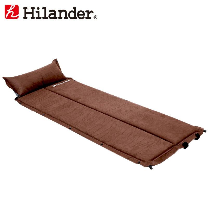 スエードインフレーターマット 2つ折り仕様(枕付きタイプ) 3.2cm/Hilander(ハイランダー)