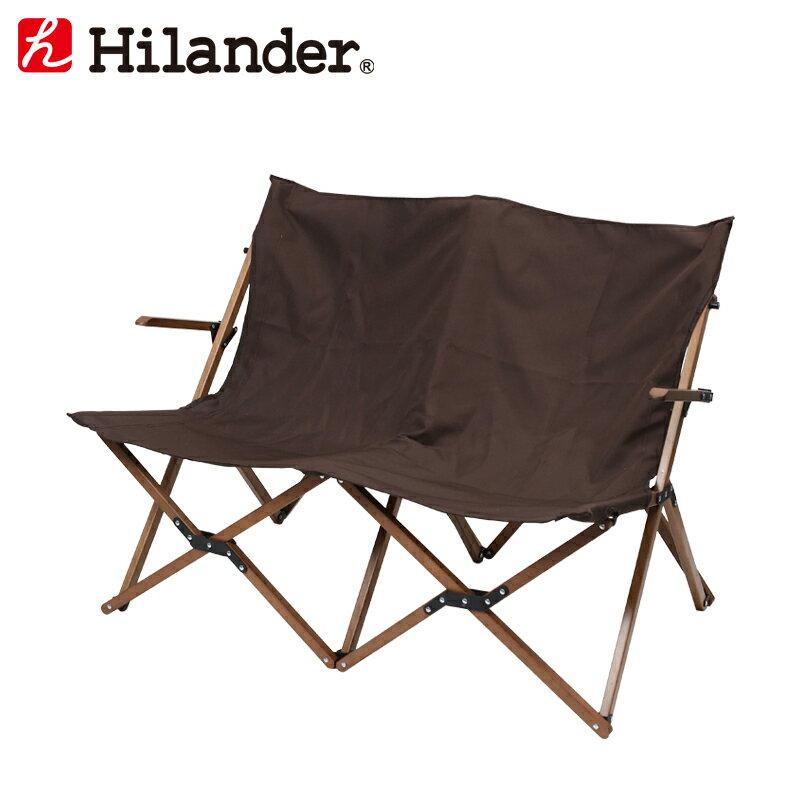 ウッドフレーム 2人掛けリラックスチェア【限定カラー】/Hilander(ハイランダー)