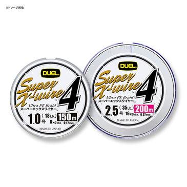 デュエル(DUEL) Super X−wire 4(スーパーエックスワイヤー フォー) 200m 1号/18lb 10m×5色 H3590【あす楽対応】