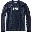 HELLY HANSEN(ヘリーハンセン) HE81712 L/S Border Rashguard(ボーダーラッシュガード) WL HB(ヘリーブルー)