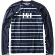 HELLY HANSEN(ヘリーハンセン) HE81712 L/S Border Rashguard(ボーダーラッシュガード) XL HB(ヘリーブルー)
