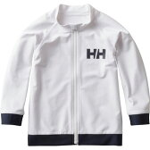 HELLY HANSEN(ヘリーハンセン) HJ81702 K L/S FZ Rashguard(フルジップラッシュガード) 120 W(ホワイト)