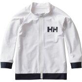 HELLY HANSEN(ヘリーハンセン) HJ81702 K L/S FZ Rashguard(フルジップラッシュガード) 130 W(ホワイト)