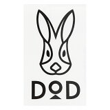 DOD(ディーオーディー) DODロゴステッカー ブラック ST1-479【あす楽対応】