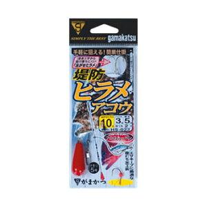 【値下げ商品】がまかつ(Gamakatsu)堤防ヒラメ(アコウ)仕掛 鈎10/ハリス3