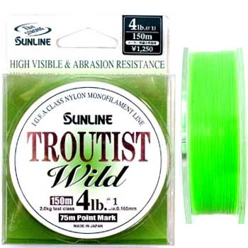 サンライン(SUNLINE) トラウティスト ワイルド 150m 4lb スーパーマットグリーン