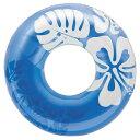 インテックス クリアカラーチューブ 浮き輪 91cm 91cm ブルー #59251BL【あす楽対応】
