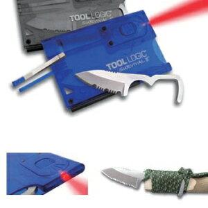 TOOLLOGIC(ツールロジック) マルチツールTOOLLOGIC(ツールロジック) サバイバルカード・ライト 青