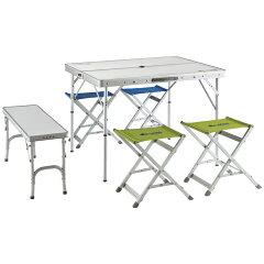 ロゴス(LOGOS) テーブル【送料無料】ロゴス(LOGOS) ベンチテーブルセット6【SMTB】