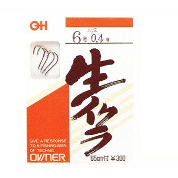オーナー針 OH生イクラ専用 (糸付) 6号−03 茶 NO.40434
