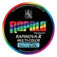【送料無料】Rapala(ラパラ) ラピノヴァ・エックス マルチカラー 200m 0.8号 マルチ RXC200M08MC【SMTB】