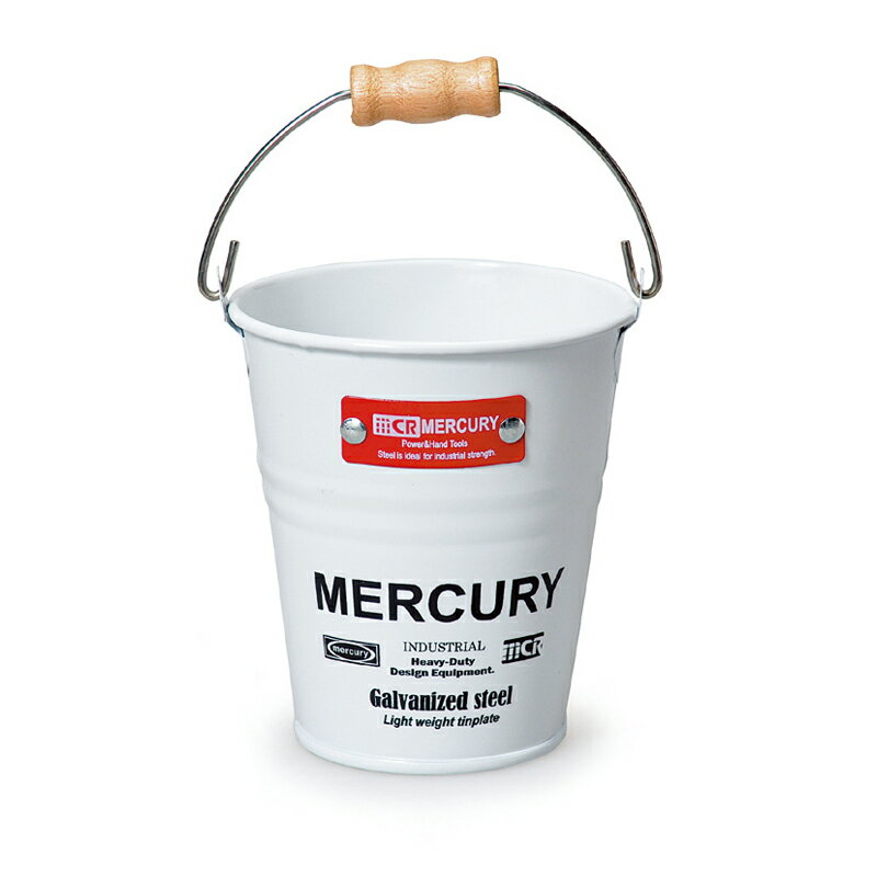 MERCURY(マーキュリー) ブリキミニバケツ ホワイト MEBUMBWH