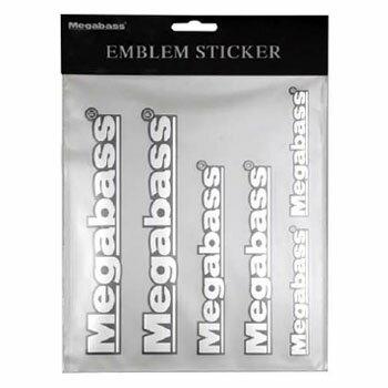 メガバス(Megabass) EMBLEM STICKER シルバー 00000039855